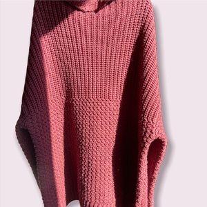 Noisy May Burgundy High Neck Knit Sweater Size Large
